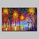 baratos Pinturas Abstratas-Pintados à mão Abstrato Paisagem Horizontal, Modern Tela de pintura Pintura a Óleo Decoração para casa 1 Painel