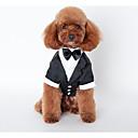 voordelige Hondenkleding-Hond kostuums Jassen Outfits Winter Hondenkleding Zwart Kostuum Husky Labrador Alaska malamute Katoen Brits Bruiloft S M L XL XXL
