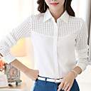 povoljno Softshell, flis i jakne za planinarenje-Veći konfekcijski brojevi Majica Žene Rad Jednobojni Kragna košulje Izrezati Obala / Proljeće