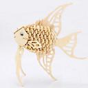ราคาถูก จิ๊กซอว์3D-จิ๊กซอว์ 3D-puslespill ปริศนาไม้ การก่อสร้างตึก ของเล่น DIY ปลา ไม้
