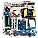ราคาถูก มาเธอร์บอร์ด-funduino ขั้นสูงชุดเริ่มต้น LCD Servo Motor Dot Matrix ชนบทนำแพ็คองค์ประกอบพื้นฐานที่รองรับสำหรับ Arduino