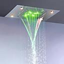 billiga Glödlampor-badrum regn och vattenfall duschmunstycke / rostfritt stål 304 / växelström energibesparing LED-lampor ingår