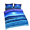 povoljno Luksuzni poplune-pokrivač pokrivača 3d poli / pamuk reaktivni tisak 3 komad posteljine setovi / 200 / 3pcs (1 pokrivač, 2 shams) kraljica