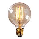 billiga Glödlampa-1st 40W E26 / E27 G80 Varmvit 2300k Kontor / företag Bimbar Dekorativ Glödande Vintage Edison glödlampa 220-240V