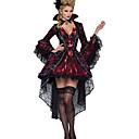 billiga Vuxenkostymer-Vampyr Cosplay Kostymer / Dräkter Festklädsel Dam Halloween Festival / högtid Terylen Dam Karnival Kostymer Enfärgad