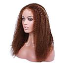 Χαμηλού Κόστους Σετ εργαλείων-Φυσικά μαλλιά Δαντέλα Μπροστά Χωρίς Κόλλα Δαντέλα Μπροστά Περούκα στυλ Βραζιλιάνικη Σγουρά Περούκα 130% 150% Πυκνότητα μαλλιών 14-18 inch / Μαλλιά με ανταύγειες / Φυσική γραμμή των μαλλιών