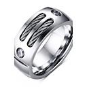povoljno Muško prstenje-Muškarci Band Ring Srebro Titanium Steel Personalized Vintage Moda Božićni pokloni Dnevno Jewelry