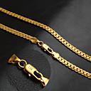 Χαμηλού Κόστους Σετ Κοσμημάτων-Ανδρικά Κολιέ με Αλυσίδα Αλυσίδα ψαριού Αλυσίδα Foxtail Αλυσίδα μπατ Εξατομικευόμενο Κλασσικό Μοντέρνα Χιπ-Χοπ 18Κ Επίχρυσο Κιτρινόχρυσο Χρυσαφί 50 cm Κολιέ Κοσμήματα 1pc Για Πάρτι Καθημερινά Causal