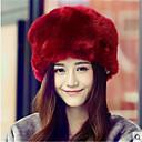 ราคาถูก ของตกแต่งวันคริสต์มาส-สำหรับผู้หญิง สีพื้น สังเคราะห์ ซึ่งทำงานอยู่-หมวกปีกกว้าง ตก ฤดูหนาว แดง สีชมพู อูฐ / Black / White / Red / น้ำตาล