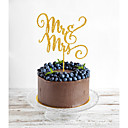 billige Kakedekorasjoner-Kakepynt Klassisk Tema Monogram Akryl Bryllup med Blomst 1 Gaveeske