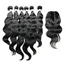 Χαμηλού Κόστους Εξτένσιος μαλλιών με φυσικό χρώμα-Ινδική Φυσικό Κυματιστό Φυσικά μαλλιά Μαλλιά υφάδι με κλείσιμο Υφάνσεις ανθρώπινα μαλλιών Επεκτάσεις ανθρώπινα μαλλιών