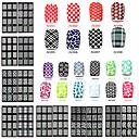 billiga ihåliga klistermärke-1 pcs 3D Nagelstickers nagel konst manikyr Pedikyr Matte / Mode Dagligen / 3D Nail Stickers