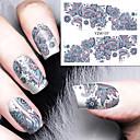 billiga Heltäckande nagelklistermärken-1 pcs Vattenöverföringsklistermärke nagel konst manikyr Pedikyr Mode Dagligen