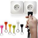 billiga Lys upp leksaker-Nyckelknippa Nyckelknippa förhindra förlust Uttag ABS Kreativ Bitar Present