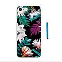 ราคาถูก Novelty Lighting-Case สำหรับ iPhone 7 / iPhone 7 Plus / iPhone 6s Plus iPhone X / iPhone 8 Plus / iPhone 8 Pattern ปกหลัง ดอกไม้ Soft TPU