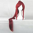 ราคาถูก วิกผมคอสตูม-วิกผมสังเคราะห์ วิกคอสตูม Straight ตรง กับหางม้า ผมปลอม Red สังเคราะห์ สำหรับผู้หญิง แดง hairjoy