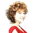 billiga Andra delar-Syntetiska peruker Lockigt Lockigt Peruk Beige Syntetiskt hår Dam Ombre-hår Brun OUO Hair