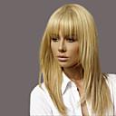 billiga Utan lock-elegant mode raka människohår peruker för kvinna