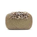 billige Clutch- og aftenvesker-Dame Krystall / Rhinstein / Akryl Juveler Spesial Material Aftenveske Rhinestone Crystal Evening Bags Ensfarget Svart / Gylden / Sølv