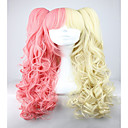 billiga Schackspel-Syntetiska peruker Vågigt Vågigt Peruk Rosa Rosa Syntetiskt hår Dam Flätad peruk Afrikanska flätor Rosa hairjoy