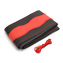 baratos Capas para Volante-AUTOYOUTH Capas para Volante couro legítimo Vermelho / Azul Para Universal