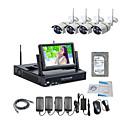 billige NVR-sett-strongshine® trådløst ip-kamera med 960p infrarødt vanntett og NVR med 7 tommers LCD-skjerm / 2 TB overvåkning HD-sett vanntett kamera nattsynstelefonvisning