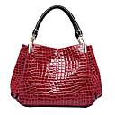 ราคาถูก กระเป๋า Totes-สำหรับผู้หญิง Patent Leather กรเป๋าหิ้ว จระเข้ สีดำ / น้ำเงินเข้ม / สีแดงเข้ม / ฤดูใบไม้ร่วง & ฤดูหนาว
