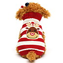 billige Hundeklær-Kat Hund Gensere Vinter Hundeklær Svart Grønn Rød Kostume Bomull Reinsdyr Jul XXS XS S M L XL
