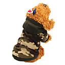 ราคาถูก เสื้อผ้าสำหรับสุนัข-แมว สุนัข เสื้อโค้ต Hoodies ฤดูหนาว Dog Clothes สีทราย เสือดาว เครื่องแต่งกาย ฝ้าย อำพราง รักษาให้อุ่น แฟชั่น XS S M L XL