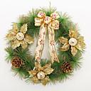ราคาถูก พืชเทียม-คริสต์มาสพวงหรีดเข็ม 3 สีสนตกแต่งคริสต์มาสสำหรับบุคคลที่มีขนาดเส้นผ่าศูนย์กลาง 40 ซมบ้าน Navidad วัสดุปีใหม่