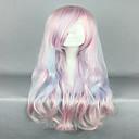 Χαμηλού Κόστους Είδη Ψησίματος-Συνθετικές Περούκες Περούκες Στολών Κυματιστό Κυματιστό Περούκα Ροζ πολύ μακριά Ροζ Συνθετικά μαλλιά Γυναικεία Ροζ hairjoy