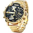 ราคาถูก จอแสดงผลหน้ารถ-สำหรับผู้ชาย นาฬิกาแนวสปอร์ต นาฬิกาทหาร นาฬิกาข้อมือ นาฬิกาอิเล็กทรอนิกส์ (Quartz) สแตนเลส ดำ / น้ำตาล / ทอง ปฏิทิน แสดงสองเวลา เท่ห์ ระบบอนาล็อก ความหรูหรา วินเทจ ไม่เป็นทางการ แฟชั่น - / สองปี