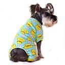billiga Bilstrålkastare-Katt Hund Jumpsuits Pyjamas Vinter Hundkläder Blå-Gul Vit Gul Kostym Cotton Tecknat Ledigt / vardag XS S M L XL