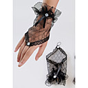 Χαμηλού Κόστους Περούκες Λολίτα-Δαντέλα Μέχρι τον καρπό Γάντι Νυφικά Γάντια Με Τεχνητό διαμάντι / Φλοράλ