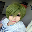 billiga Bergkristall&Dekorationer-Syntetiska peruker Kostymperuker Rak Rak Peruk Grön Syntetiskt hår Dam Grön hairjoy