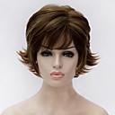 Χαμηλού Κόστους Συνθετικές περούκες χωρίς σκουφί-Συνθετικές Περούκες Φυσικό Κυματιστό Ξανθό Συνθετικά μαλλιά Ξανθό Περούκα Γυναικεία