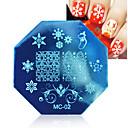 billiga Jul Nail Art-1 pcs Stämpelplatta Mall nagel konst manikyr Pedikyr Mode Dagligen / stämpling Plate / Stål