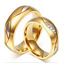 ราคาถูก แหวน-สำหรับคู่รัก แหวนคู่ สีดำ ทอง ทองชุบ 18K เหล็กกล้าไร้สนิม พลอยเทียม ส่วนบุคคล ความหรูหรา แฟชั่น งานแต่งงาน ปาร์ตี้ เครื่องประดับ น่ารัก / ทุกวัน / ที่มา