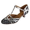 Χαμηλού Κόστους Ημέρα επιστροφής στο σπίτι-Γυναικεία Μοντέρνα παπούτσια / Αίθουσα χορού Λαμπυρίζον Γκλίτερ Πόρπη Πέδιλα Προσαρμοσμένο τακούνι Εξατομικευμένο Παπούτσια Χορού Μαύρο / Κόκκινο / Καφέ / Εσωτερικό / Επίδοση / Εξάσκηση / EU40