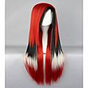 ราคาถูก วิกผมคอสตูม-วิกผมสังเคราะห์ Straight ตรง ผมปลอม Red สังเคราะห์ สำหรับผู้หญิง แดง hairjoy
