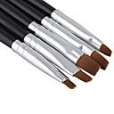 Χαμηλού Κόστους Ψεύτικες Βλεφαρίδες-5pcs Ξύλο / Νάιλον Εργαλεία ζωγραφικής νυχιών Για Πρωτότυπες τέχνη νυχιών Μανικιούρ Πεντικιούρ Κλασσικό / χαριτωμένο στυλ Καθημερινά