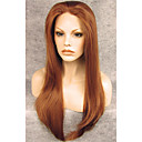 billige Hairextension med naturlig farge-Syntetiske parykker Rett Rett Blonde Forside Parykk Rødbrun Syntetisk hår Brun