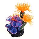 billiga Hundleksaker-Akvarium Akvariedekorationer Fisk Fiskskål Ornament Korall Vattenväxt Orange Dekorativ Resin Plast