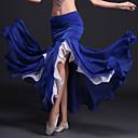 ราคาถูก ชุดเต้นระบำหน้าท้อง-ชุดเต้นระบำหน้าท้อง Tutus & Skirts สำหรับผู้หญิง Performance เส้นใยสังเคราะห์ / เส้นใยโปรตีนจากนม จับย่น ธรรมชาติ กระโปรง