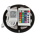 cheap Magnetic Building Blocks-ZDM 5M 300 x 2835 8mm RGB LED Strips Light Flexible and IR 24Key Remote Control   Linkable  Self-adhesive  Color-Changing