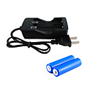 ราคาถูก ไฟเส้น LED-เครื่องชาร์จแบตเตอรี่ แบตเตอรี่ 2000 mAh 3.7 V สำหรับ ลิเธียมไอออน 18650 ชาร์จใหม่ได้ เคลื่อนที่ ฉุกเฉิน พลังงานสูง Fast Charging แคมป์ปิ้ง & การปีนเขา / การตกปลา
