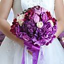 """baratos Kits & Paletas para os Olhos-Bouquets de Noiva Buquês Casamento / Festa / Noite Tafetá / Elastano / Flôr Seca 11.02""""(Aprox.28cm)"""