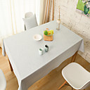 billige Duker-Rektangulær Solid Duge , Lin/Bomull Blanding MaterialeJulen Dekor Favor / Tabell Dceoration / Bryllup / Middag Decor Favor / Dekorasjoner