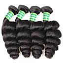 billiga Kostymperuk-4 paket Brasilianskt hår Löst vågigt Äkta hår Human Hår vävar Hårförlängning av äkta hår Människohår förlängningar / 8A