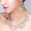 ราคาถูก แหวน-สำหรับผู้หญิง คริสตัล ต่างหู เครื่องประดับ โปร่งแสง สำหรับ งานแต่งงาน ปาร์ตี้